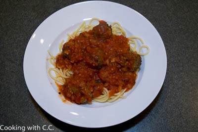 Spaghetti And Meatballs With Marinara Sauce